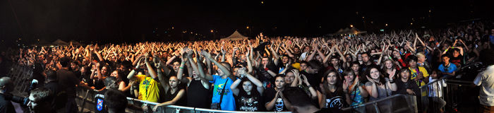 重金属,活的摇滚乐音乐会 免版税图库摄影