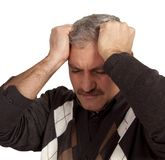 重音麻烦沮丧的人债务 库存图片