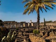 重建白色犹太教堂在Kafarnaum 免版税库存照片