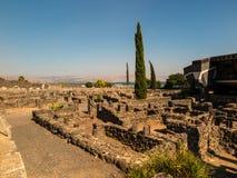 重建白色犹太教堂在Kafarnaum 免版税库存图片