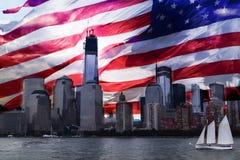 重建美国世界贸易中心 图库摄影
