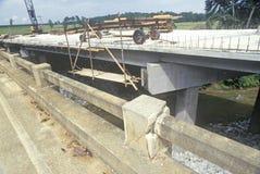 重建路和桥梁在佛罗里达 免版税图库摄影