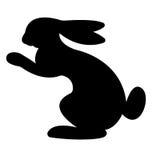 野兔剪影 免版税库存照片