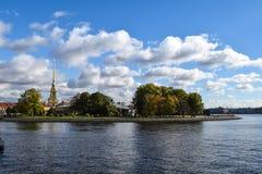 野兔海岛在圣彼德堡,俄罗斯 免版税库存图片