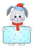 野兔海报圣诞老人 库存照片