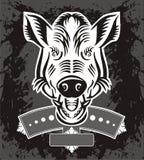 野公猪题头徽标 图库摄影