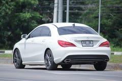 野性白色奔驰车的CLA 180 图库摄影