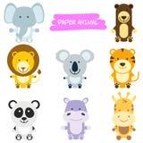 野生动物动画片例证 免版税库存图片
