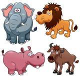 野生动物动画片 免版税库存图片