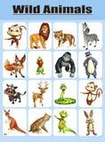 野生动物图 向量例证
