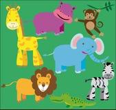 野生动物成套工具 向量例证
