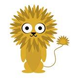 野生孩子的狮子逗人喜爱的动物卡通人物 库存照片