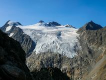 野生帕夫和Zuckerhuetl在Stubai阿尔卑斯 库存照片