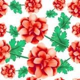 野生玫瑰无缝的样式 库存图片