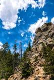 野生生物保护区在美国 蓝色岩石天空 免版税库存图片