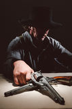 野生西部枪手 库存图片