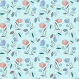 野花样式 花水彩花束 向量例证