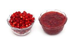 野草莓果酱 库存照片
