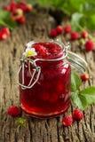 野草莓果酱 免版税库存图片