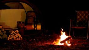 野营与火 晚上 影视素材