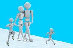 野营为乐趣的家庭 免版税库存图片