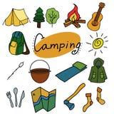 野营和室外传染媒介例证,被隔绝的对象 向量例证