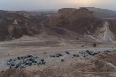 野营在以色列的沙漠 免版税库存照片