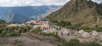 野营在印加人足迹 库存图片
