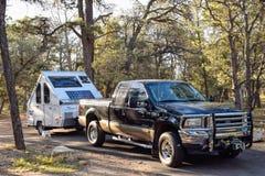 野营在大峡谷国家公园,亚利桑那,美国 免版税库存照片