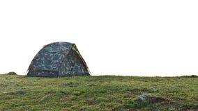野营在山的冬天 免版税库存照片