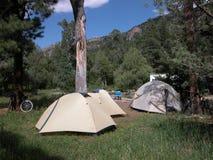 野营在新墨西哥的帐篷 免版税库存图片