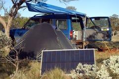 野营在灌木 库存图片