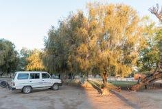 野营在Augrabies下跌国家公园 免版税库存照片