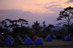 野营在Phurue - Loey 免版税库存图片
