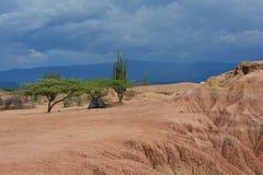 野营在Tatacoa沙漠,在Neiva,哥伦比亚 库存照片