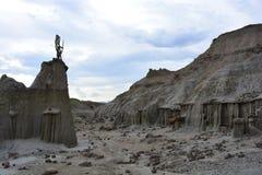 野营在Tatacoa沙漠,在Neiva,哥伦比亚 库存图片