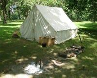 野营地帐篷白色 库存图片