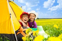 野营是乐趣 库存图片