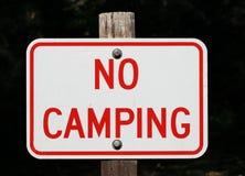 野营没有符号 免版税库存照片
