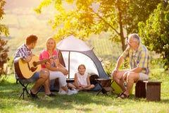 野营的乡下系列 免版税图库摄影