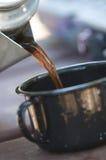 野营的咖啡 免版税库存图片