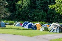 野营的安排 库存图片