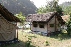 野营的尼泊尔 免版税库存图片