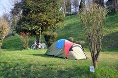 野营的循环 库存图片