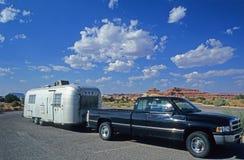 野营的拖车 图库摄影