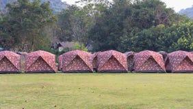 野营的旅游帐篷 免版税库存图片