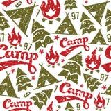 野营的无缝的样式 库存图片