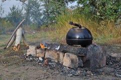 野营的水壶 库存图片