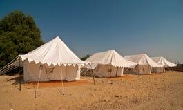 野营的沙漠夏天 库存照片