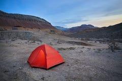 野营的沙漠 库存照片